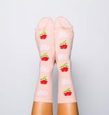 Socks Women's Crew Socks - Fuck Off Rose