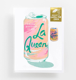 La Queen Card with Pin
