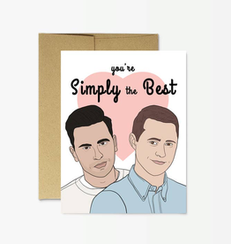 "Funny Schitt's Creek ""Simply the Best"" Card"