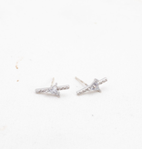 On Point Climber Earrings - Silver