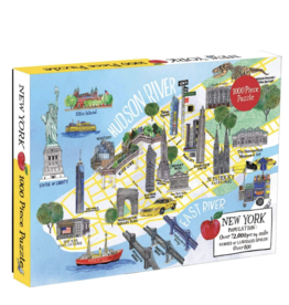 Puzzle New York City Map - 1000 Piece Puzzle