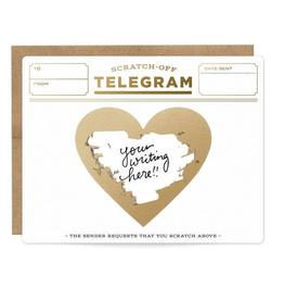 Love Gold Telegram Scratch-Off