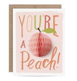 Friendship Peach Pop Up Card