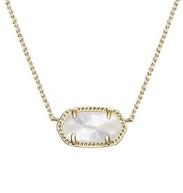 Elisa Necklace - Gold Ivory Mother of Pearl