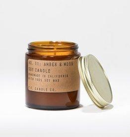 Mini Amber & Moss 3.5oz Candle