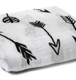 Organic Cotton Muslin Swaddle - Arrows
