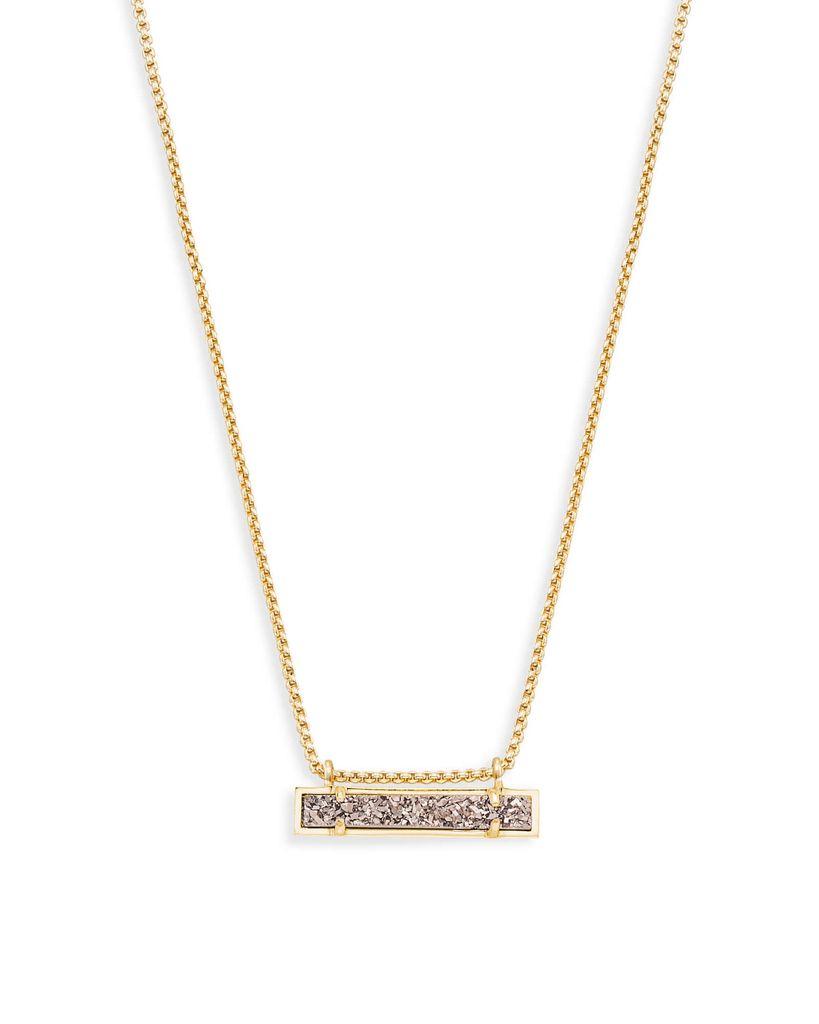 Leanor Necklace - Gold Platinum Drusy