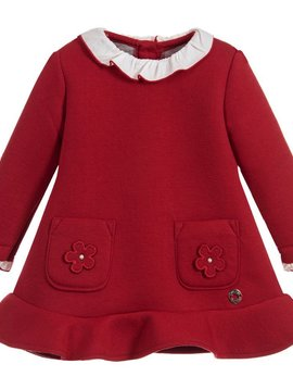 Mayoral Ruffled Red Scuba Dress - Mayoral Clothing