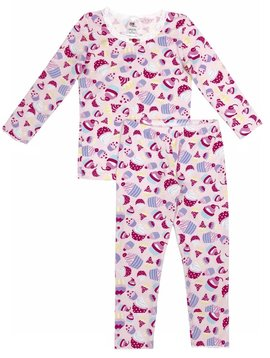 Esme Loungewear Pink Cupcake Full Length Set - Esme Loungewear