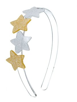 Lilies and Roses Headband - Silver Gold Star - Lilies and Roses NY