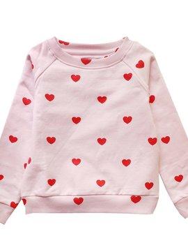 Red Hearts Sweatshirt - Kip and Co - Hugo Loves Tiki