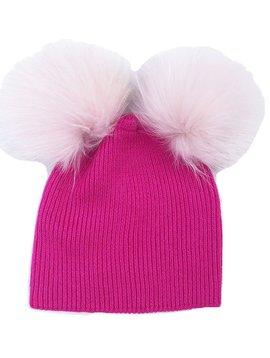 Maniere Double Pom Beanie - Hot Pink - Maniere Accessories