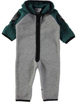 molo Uny Fleece Romper - Jungle Green - Molo Kids