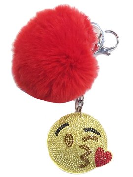 Bari Lynn Crystal Kiss Emoji Keychain - Bari Lynn Accessories