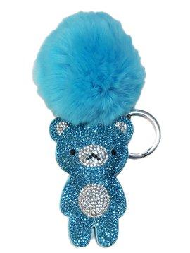 Bari Lynn Bari Lynn Blue Bear Keychain
