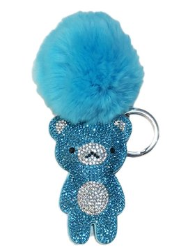 Bari Lynn Crystal Blue Bear Keychain - Bari Lynn Accessories