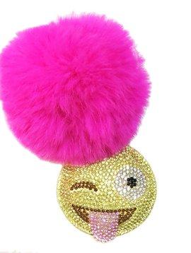 Bari Lynn Crystal Emoji Keychain - Bari Lynn Accessories