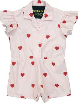 Red Hearts Ruffle Romper - Kip and Co - Hugo Loves Tiki