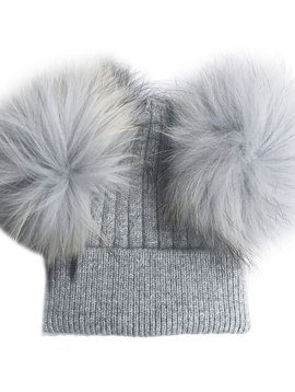Sugar Bear Dbl Pom Pom - Grey