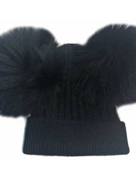 Sugar Bear Dbl Pom Pom - Black