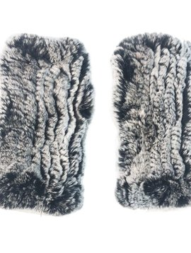 Sugar Bear Adult Rex Rabbit Fur Gloves