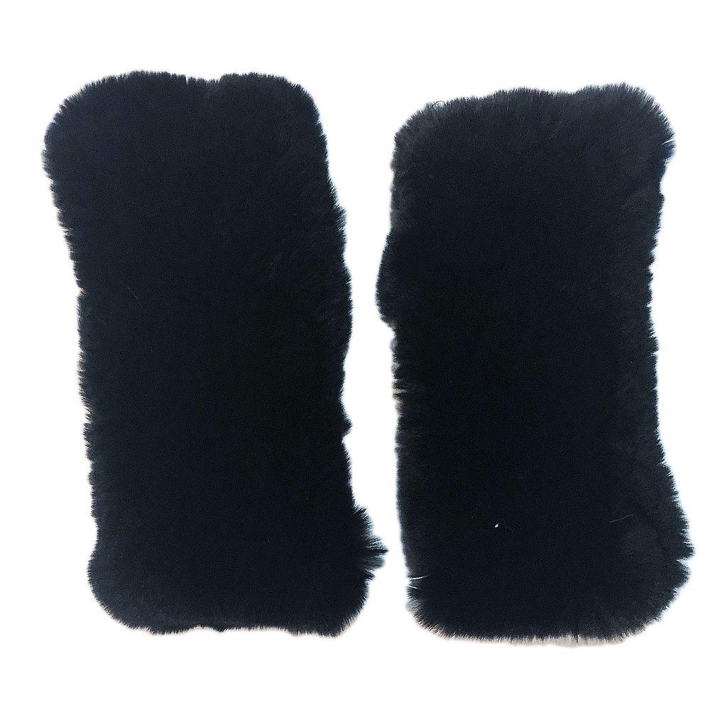 Sugar Bear Adult Rex Rabbit Fur Gloves
