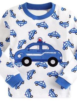 Sugar Bear Police Car Long Sleeve Pajama - Kids PJ