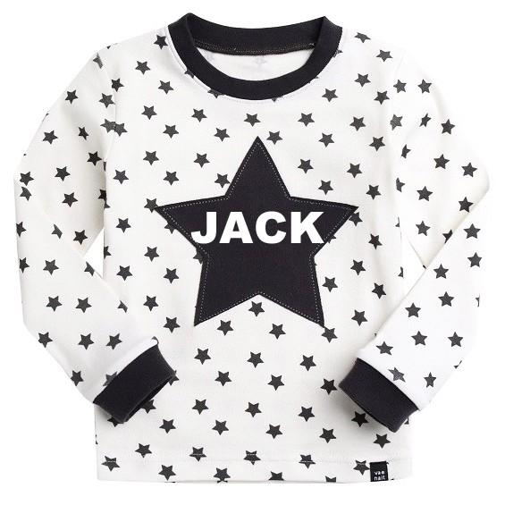 Sugar Bear Star Long Sleeve Pajama - Kids PJ