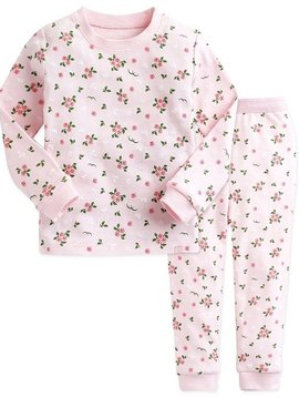 Sugar Bear Pink Rose Long Sleeve Pajama - Kids PJ