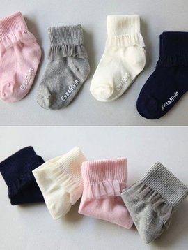 Sugar Bear Chiffon Frill Non-Slip Socks