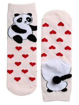 Sugar Bear Love Panda Cotton Ankle Socks
