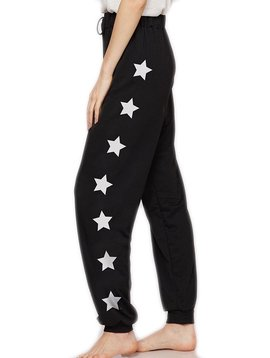 Sugar Bear Womens Star Sweatpant - Black