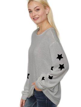 Sugar Bear Womens Star Sweatshirt - Heather Grey