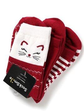 Sugar Bear Christmas Cat Socks - 3pack