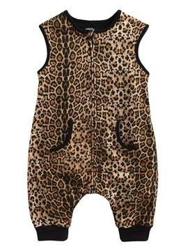 Sugar Bear Cotton Leopard Sleepsack