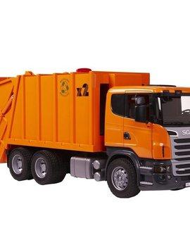 Bruder Scania Orange Garbage Truck - Bruder Toys