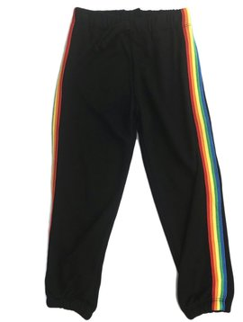 Flowers by Zoe Black Sweatpant with Rainbow Trim - Flowers By Zoe