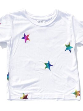 Flowers by Zoe White Top with Foil Stars - Flowers By Zoe