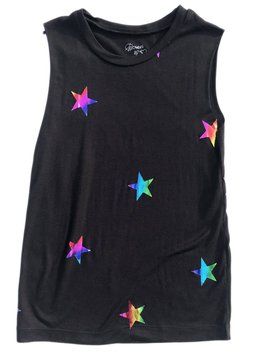 Flowers by Zoe Black Top with Foil Stars - Flowers By Zoe