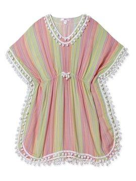 Stella Cove Pastel Stripe Poncho - Stella Cove Swimwear