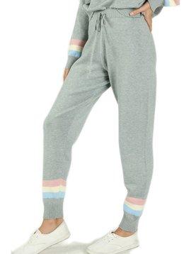 Sugar Bear Womens Grey Knit Colorblock Jogger