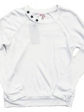 Flowers by Zoe White Sweatshirt with Black Stars - Flowers By Zoe