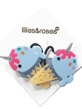 Lilies and Roses Ponytail - Ice Cream Narwhal - Lilies and Roses