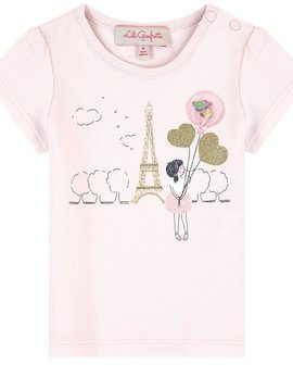 Lili Gaufrette Pink Paris Top with Balloons - Lili Gaufrette Clothing