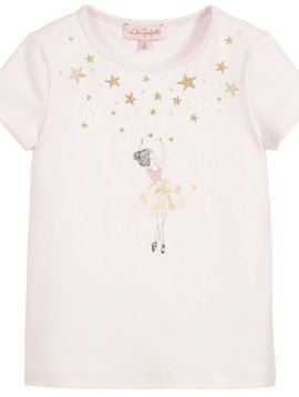 Lili Gaufrette Grimpen Top - Ballerina Gold Stars - Lili Gaufrette Clothing