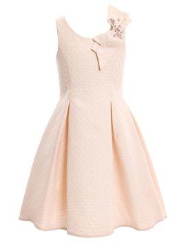 Sara Sara Pink Pleated w Bow Dress - Hannah Banana - Sara Sara