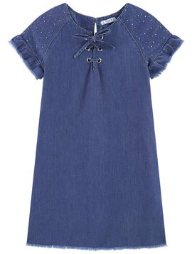 Mayoral Chambray Denim Dress - Mayoral Clothing