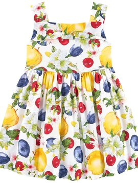 Mayoral Floral and Fruit Voile Dress - Mayoral Clothing