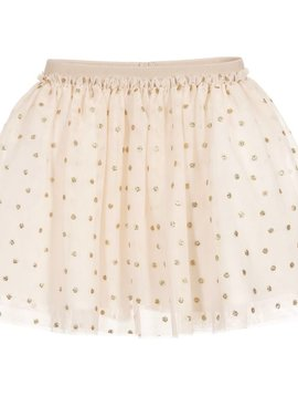 Mayoral Glitter Gold Dot Tulle Skirt - Mayoral Clothing