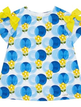 Mayoral Print Dress w Bows - Mayoral Clothing